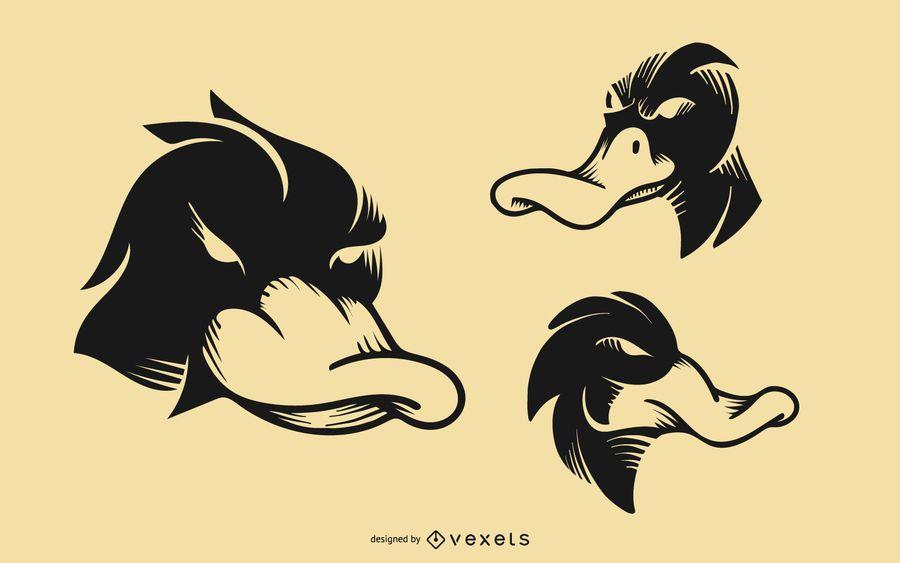 Design de tatuagem de pato