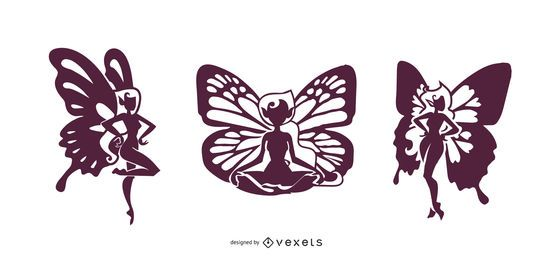 Fairies Silhouette Design