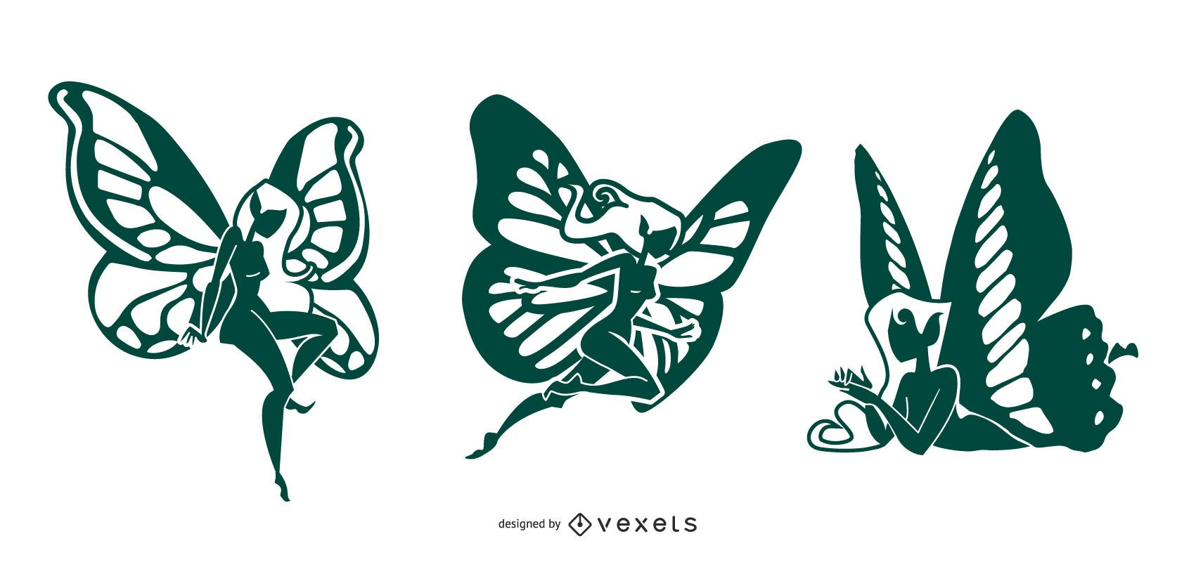 Fairies Silhouette Design