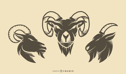 Goat Tattoo Set