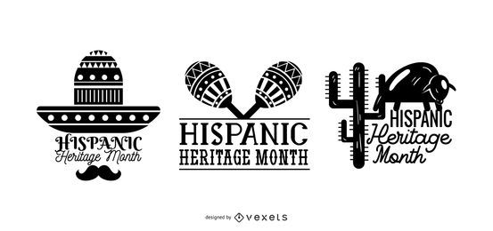 Conjunto de meses da herança hispânica