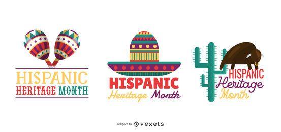 Conjunto de letras de mês de herança hispânica