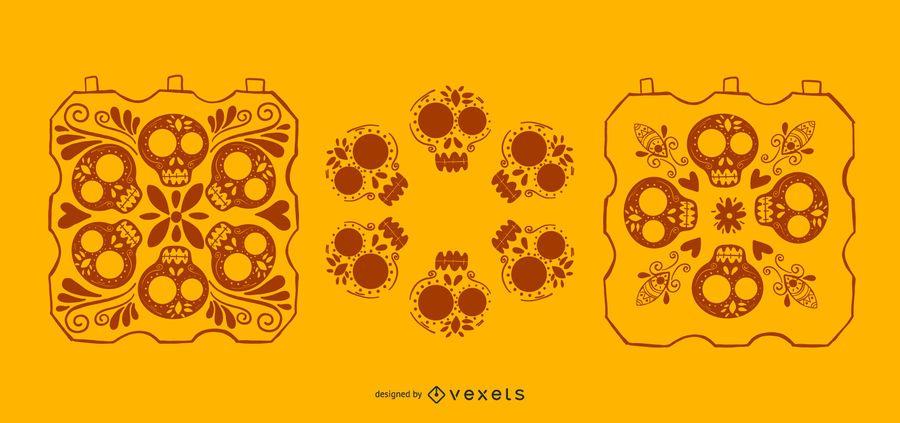 Elementos do crânio de herança hispânica