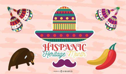 Ilustração do mês de herança hispânica