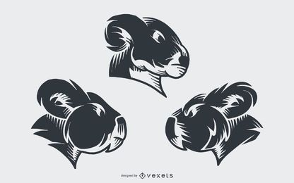 Koala tatuaje diseño vectorial