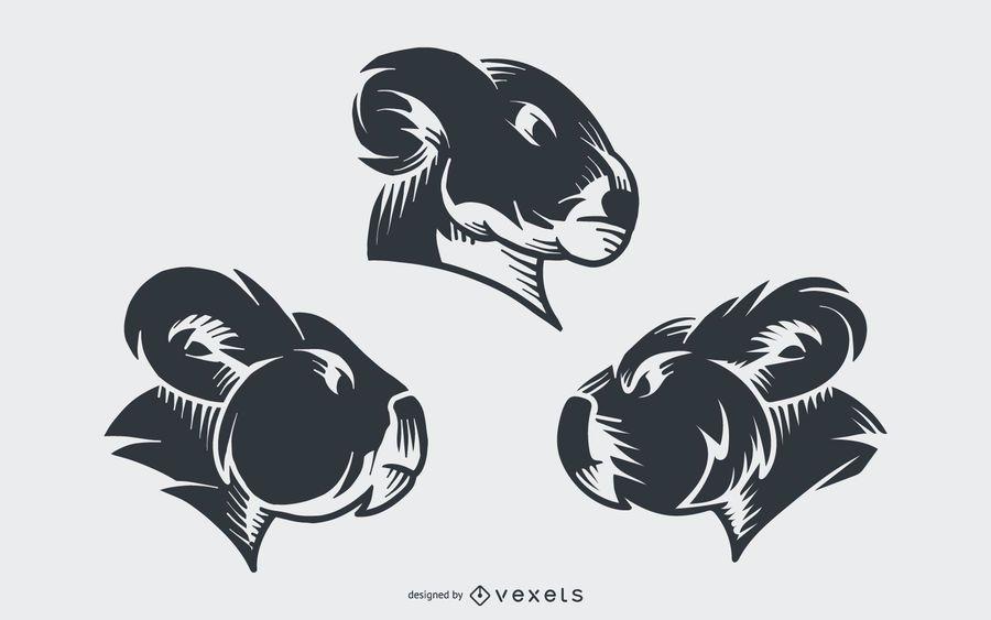Design de vetor de tatuagem de coala