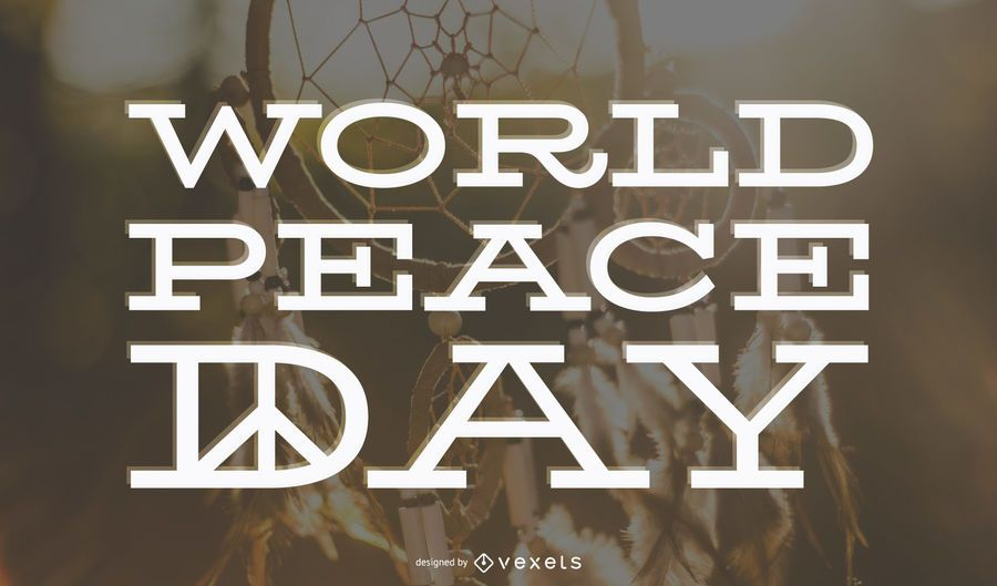 Peace Day Lettering Design