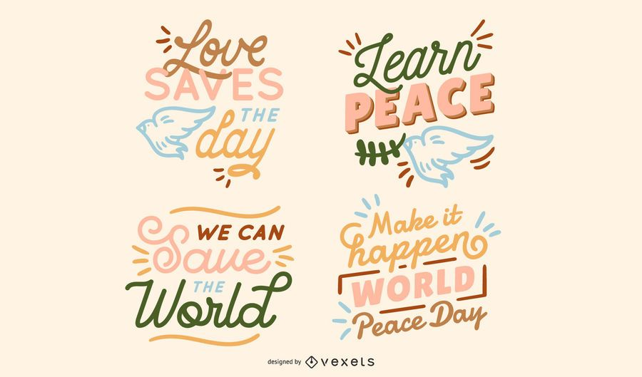 Peace lettering collection