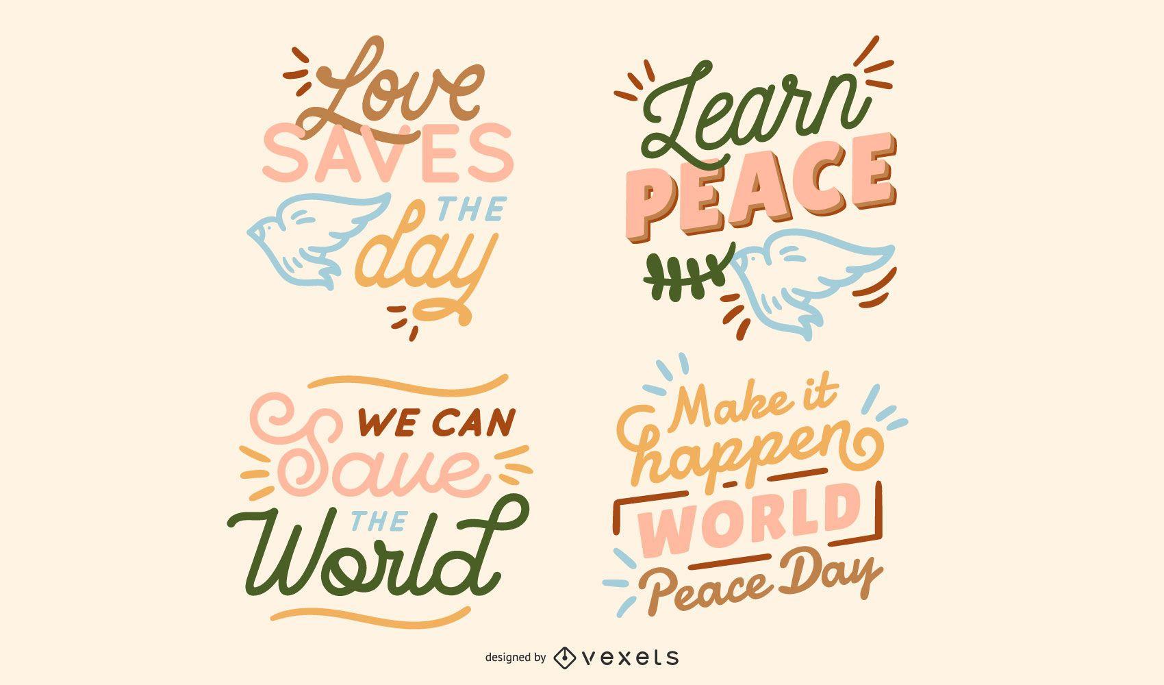 Coleção de letras da paz