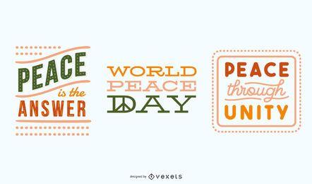 Conjunto de letras de paz