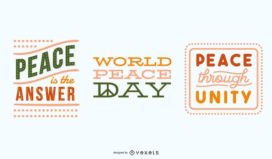 Conjunto de letras de la paz
