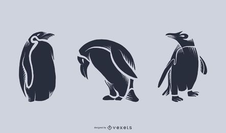 Penguin Silhouette Illustration