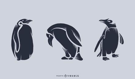 Pinguin-Schattenbild-Illustration