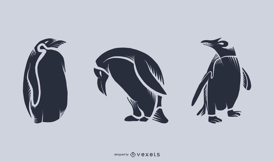 Silueta de pingüino ilustración