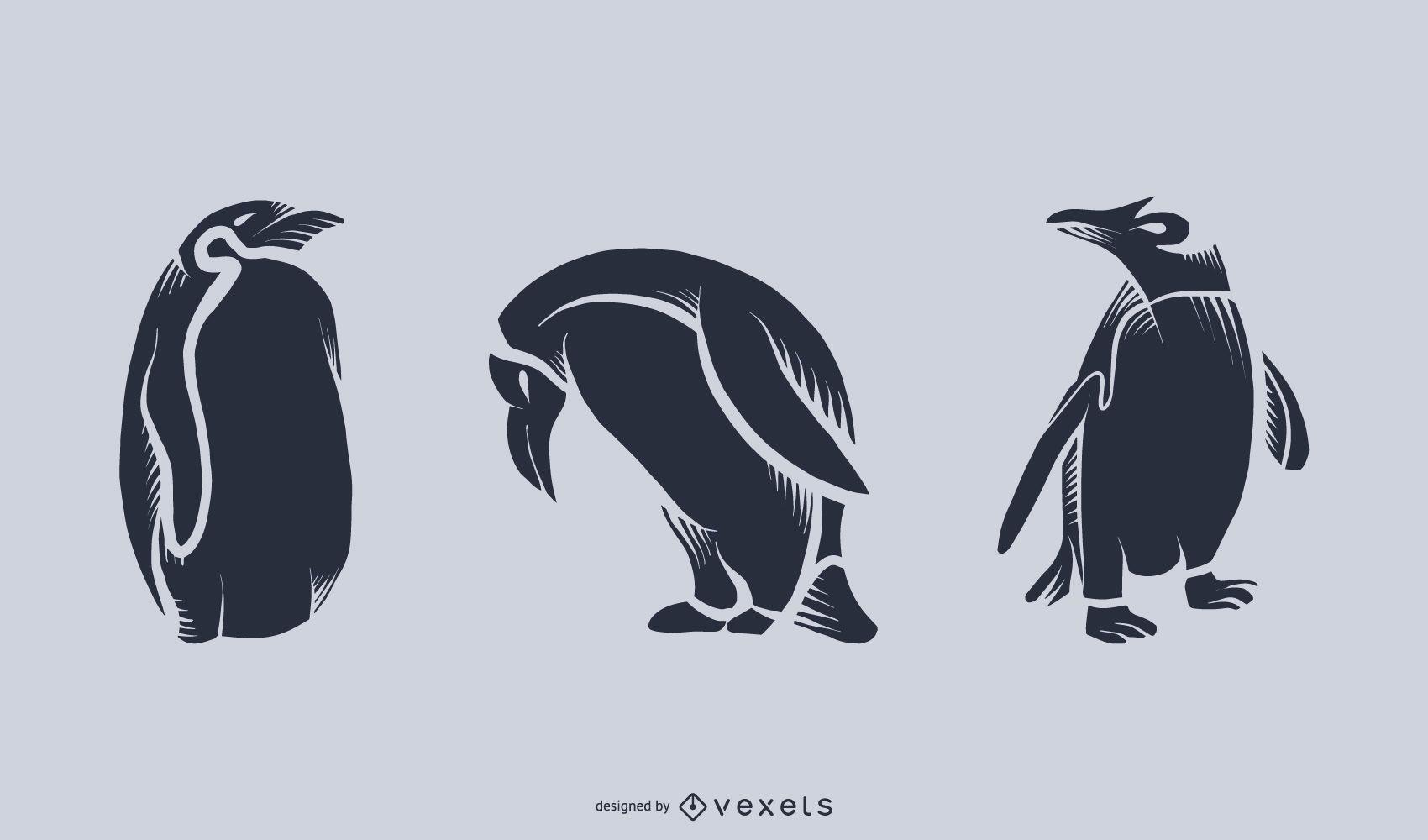 Ilustración de silueta de pingüino