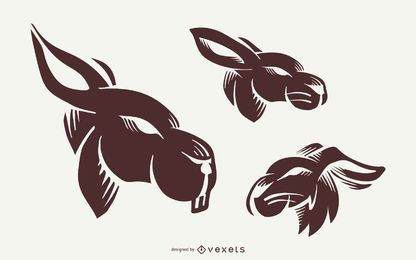 Rabbit Tattoo Set