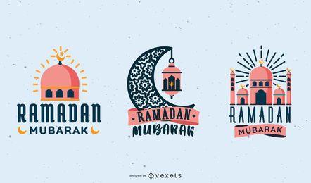 Ramadán Mubarak Vector Set