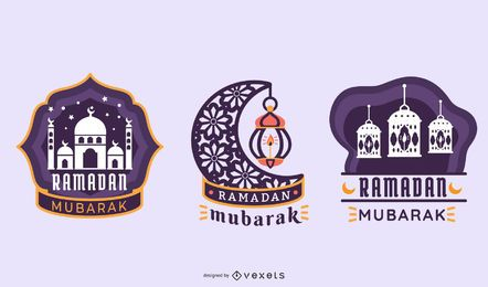 Ramadan Grafischer Vektorsatz
