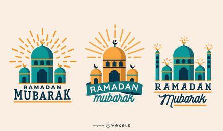 Conjunto de vector de ramadán mubarak