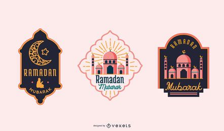 RAMADAN Mubarak Label Set