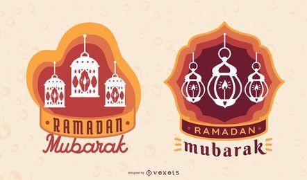 Etiquetas de Ramadan Mubarak