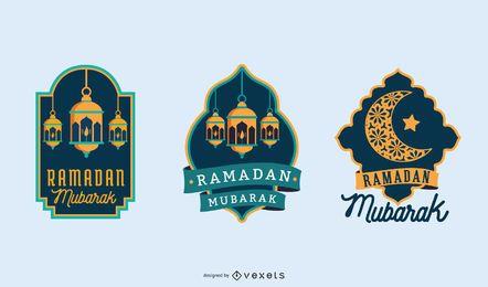 Ilustración de la noche de Ramadán Mubarak