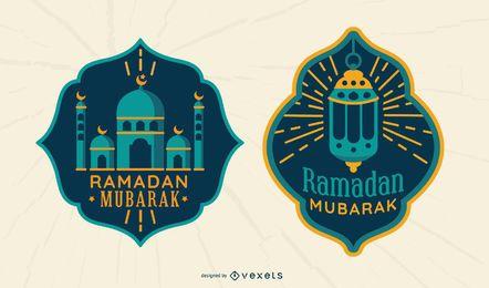Insignias de Ramadan Mubarak