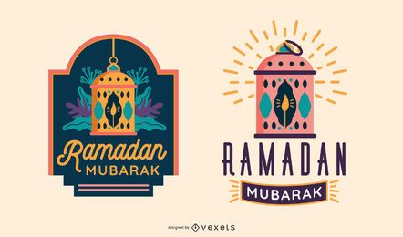 Conjunto de etiquetas do Ramadã