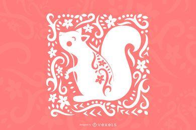 Kunst Eichhörnchen Design