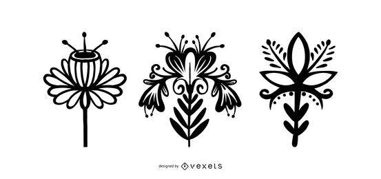 Pack de flores de estilo escandinavo
