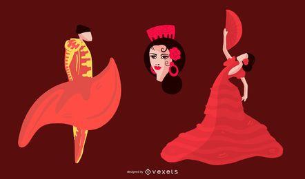 Conjunto de caracteres da cultura espanhola