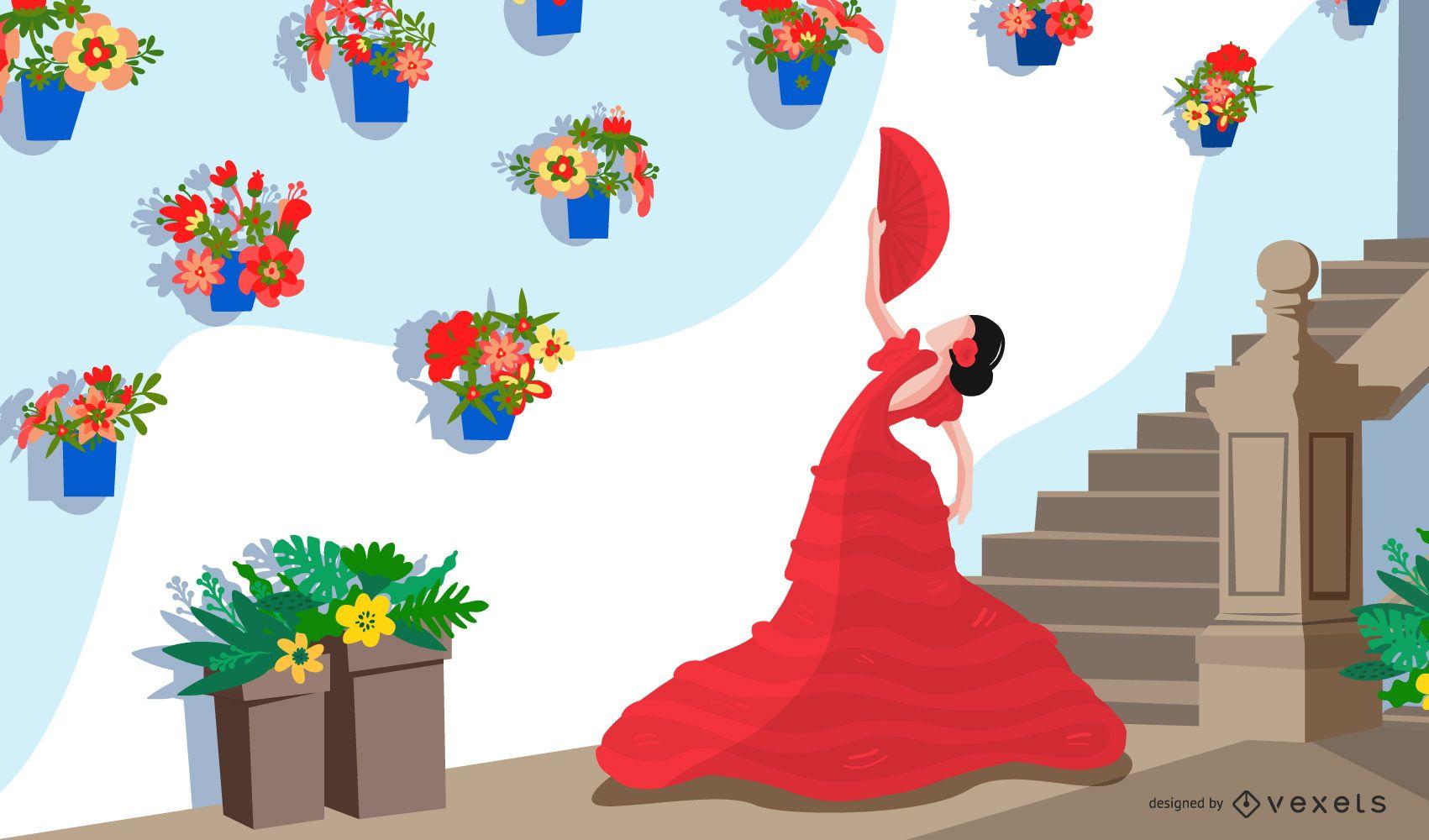 Diseño de papel tapiz de la cultura de España