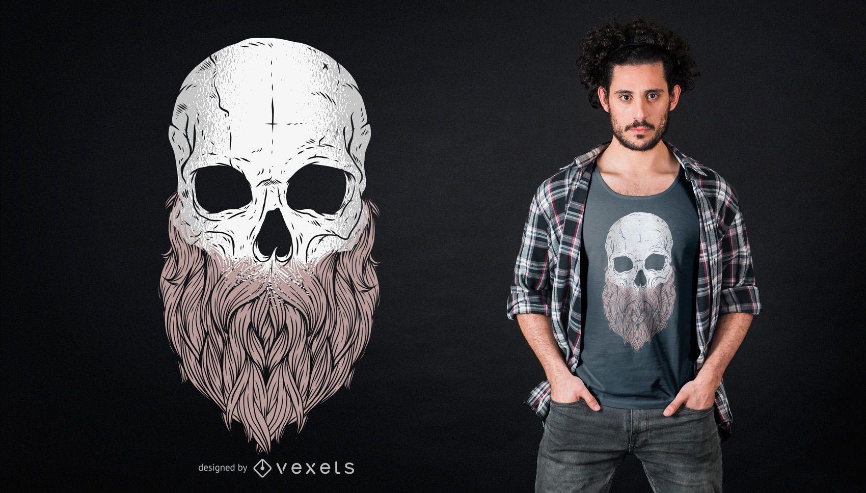 Bearded Skull T-shirt Design