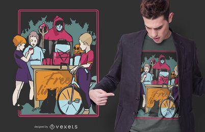 Kinder Kult T-Shirt Design