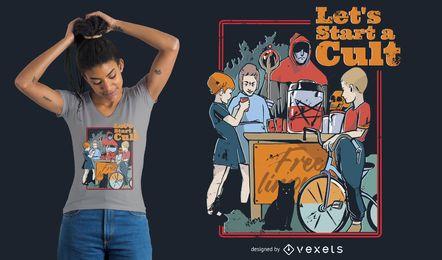 Projeto do t-shirt do culto dos miúdos