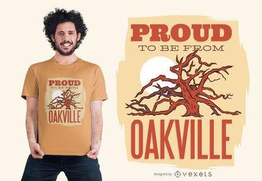 Orgulhoso ser do design do t-shirt de Oakville