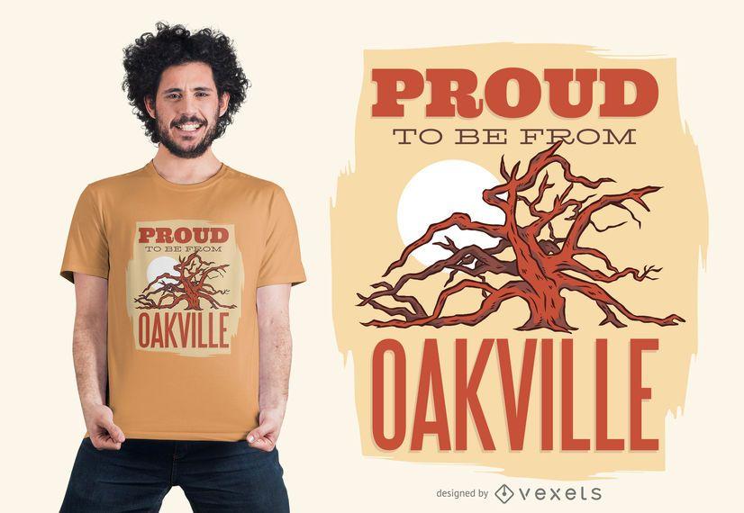 Orgulloso de ser del diseño de camiseta de Oakville
