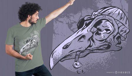 Diseño de camiseta pirata calavera gaviota