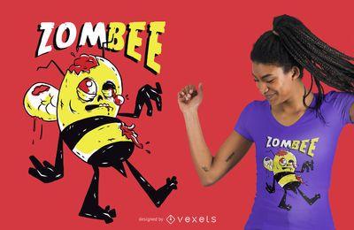 Projeto do t-shirt da abelha do zombi