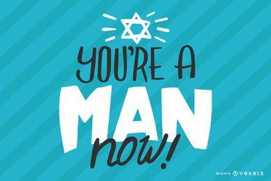 Du bist ein Mann Schriftzug Design