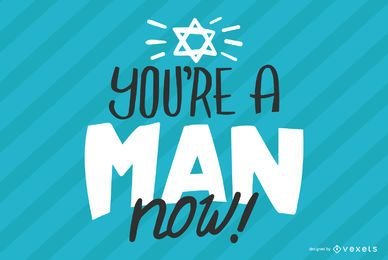 You're a man lettering design
