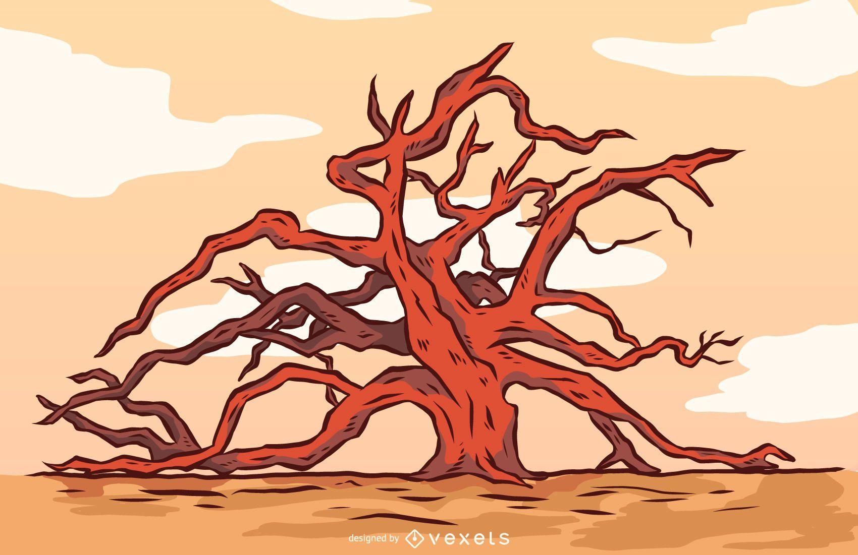 Bare Oak Tree Vector Design