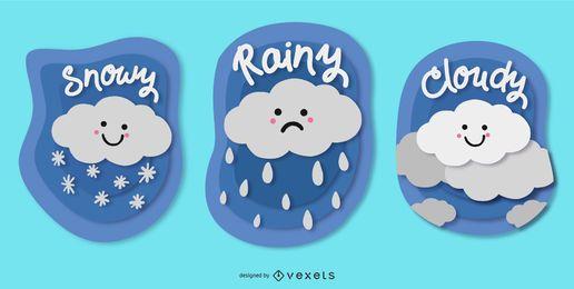 Nettes Wetter-Abzeichen-Paket