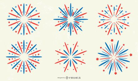 Firework Sticker Design Collection