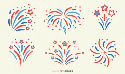 Patriotic Firework Design Collection