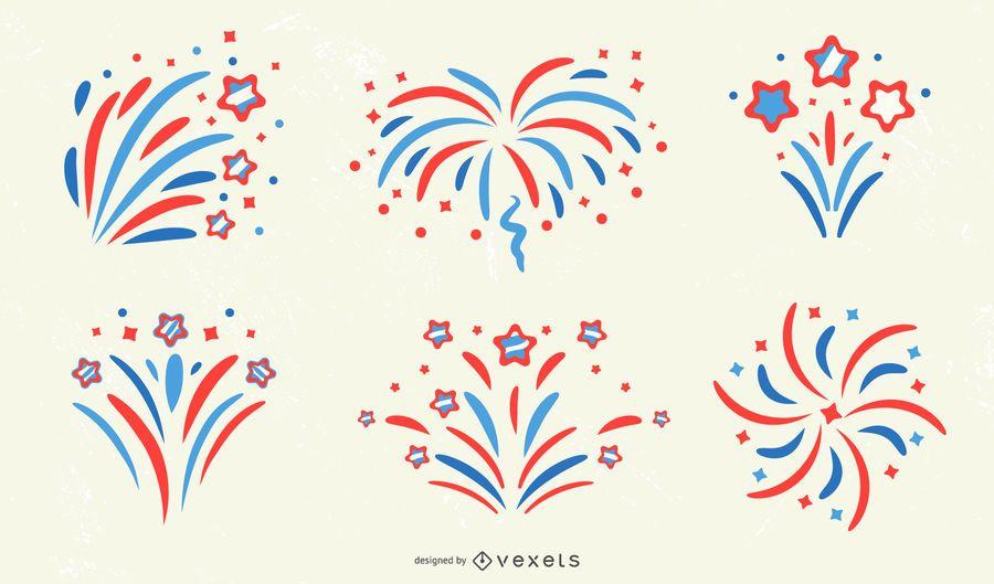 Patriotic Firework Design Collection