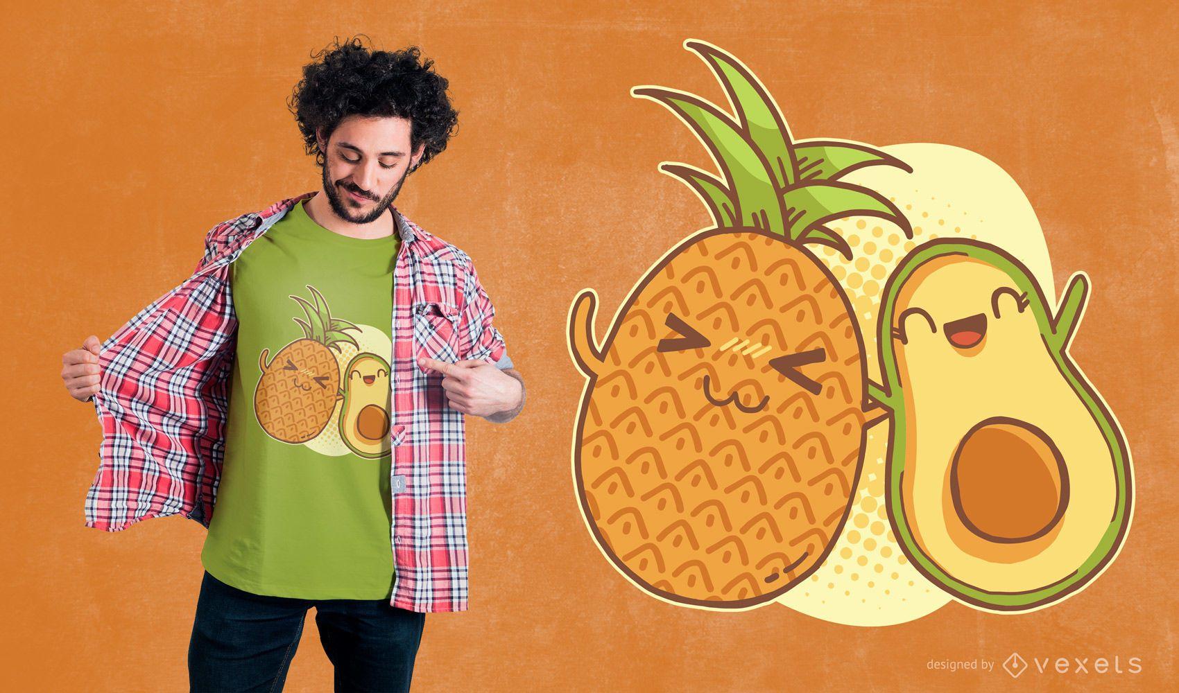 Pineapple avocado friends