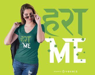 Design de camiseta com citações em hindi