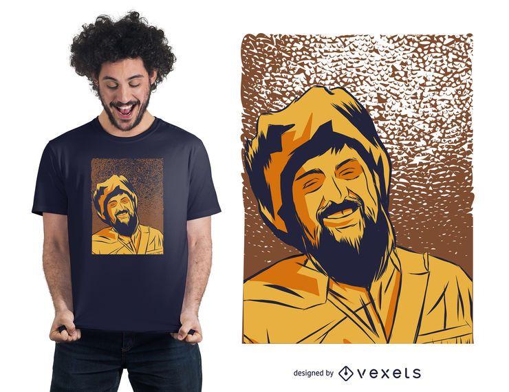 Diseño de camiseta de hombre pionero