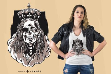 Skeleton queen design de t-shirt